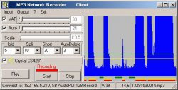 MP3 Network Recorder 1.0