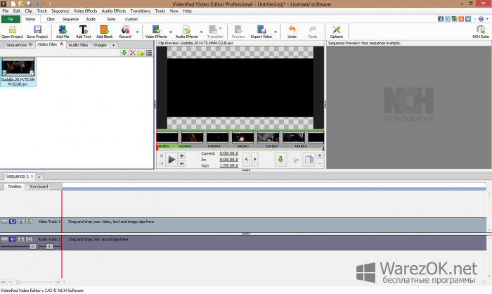 VideoPad Video Editor Professional 444 Full Version